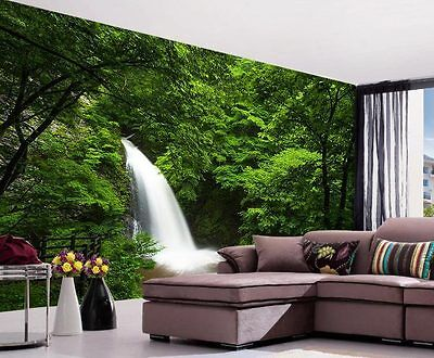 Deep Forest Waterfall Nature Full Wall Mural Photo Wallpaper Print Home 3D Decal