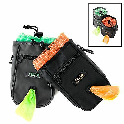 Mighty Paw Dog Treat Bag Premium Quality Drawstring Closure Pouch Includes Ca...