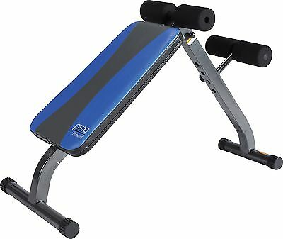 Pure Fitness Weight Training/Workout: Adjustable Ab Crunch/Sit-Up Bench Blue/...