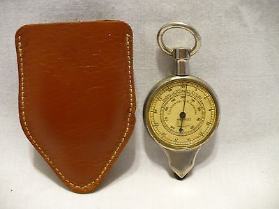 Vtg Hoffritz Map Measuring Instrument w/ 2 Nautical Scales Leather Case Germany