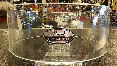 Pearl Crystal Beat Acrylic 6.5x14 Free Floating Snare Drum Shell-Clear