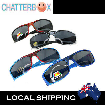 Kid Child Boys Cool Spiderman Pattern Sunglasses Sporty Wrap + free carry case