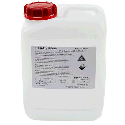 WELDBrush Keztek BE50 CleanTIG Weld Cleaning and Polishing Solution - Clear -...