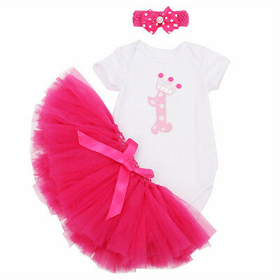 Toddle Baby Girl 1st Birthday Outfit TuTu Skirt