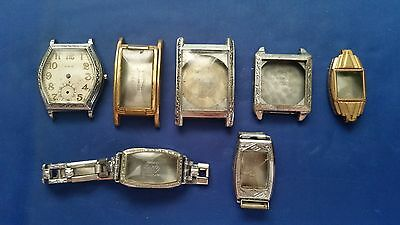 LOT OF 7 Vintage Engraved Watch Cases