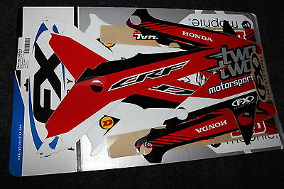 Honda Crf 450R 2005-2008 Two-Two Fx Mx Graphics Decals Kit Stickers