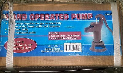 Harbor Freight Hand Operated Water Pump New In Box #1318
