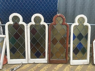 Antique Stained Glass Windows - Sold As Set From 1931 From Historical House