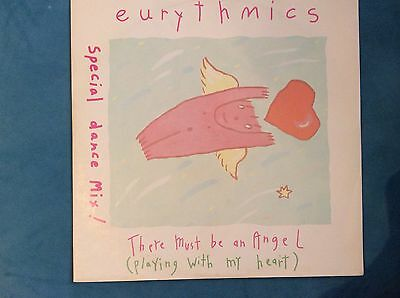 """EURYTHMICS THERE MUST BE AN ANGEL 1985 UK 12"""" Vinyl record"""