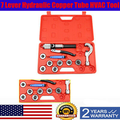 "HYDRAULIC 11 PC Copper Tube EZ SQueeze Expander Up 1-1/8""O.D. Lever SET(7 Heads)"