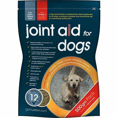 GWF Joint Aid for Dogs 500 g Arthritis Healthly Joints + Glucosamine Supplement
