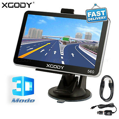 "XGODY 5"" PKW Car Auto GPS Navigation Navigationsgerät Navi UK+ EU Karten 8GB MP3"