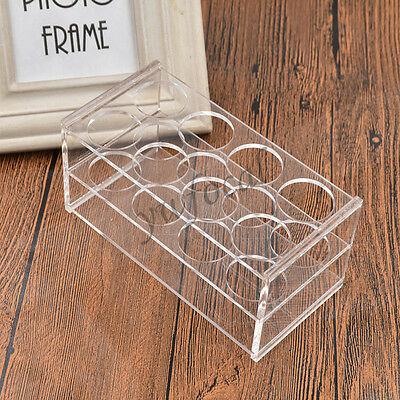 Test Tube Rack Laboratory Supplies Rectangular Clear Holder Stand Tools 8 Holes