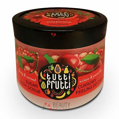 Farmona Tutti Frutti Cherry & Currant Sugar Body Scrub 300g