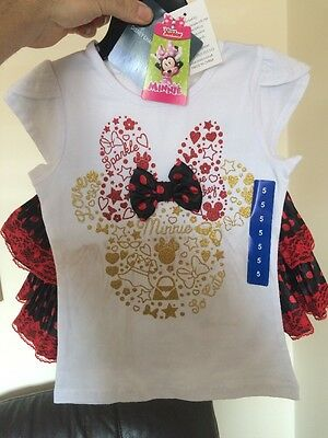 Kids Disney Minnie Skirt And Top Set. Aged 5 Years. New But Dirt On The Top.