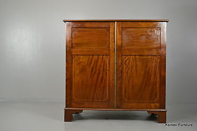 Edwardian Inlaid Mahogany Cupboard