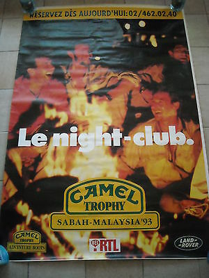"Camel Trophy 1993 - big poster (bus shelter) 120 x 175 ""Night Club"""