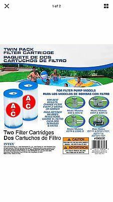 Intex Type A Filter Cartridge for Pools, Twin Pack