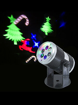 Indoor Christmas Laser Projector LED Light Moving Shapes Decoration Party Sound