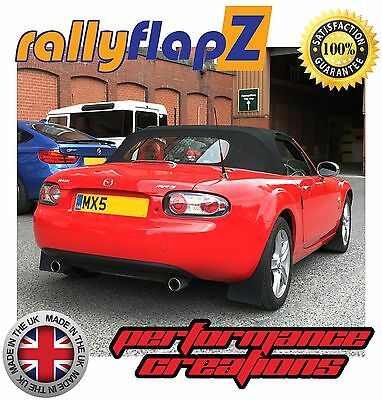 rallyflapZ to fit MAZDA MX5 Full Set of 4 Mudflaps Inc: Fixings Black 4mm PVC
