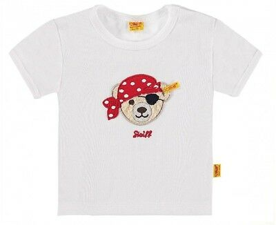 Steiff 6712521 T- Shirt  Shirt  Little Pirat Teddy Bär / 1000 Weiss