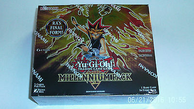 Sealed box of YuGiOh Millennium set 36 packs in a box