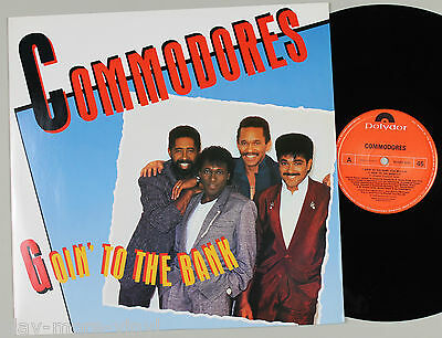 "COMMODORES Goin To The Bank 12"" vinyl UK 1986 Polydor plays NM!"