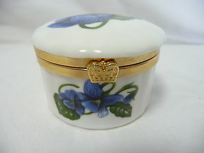 Vintage Aynsley Hindged Trinket Box Fine Bone China Made in England