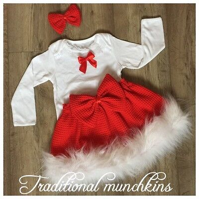 Red Tartan Baby/ Girls  Skirt, Set , Outfit , Spanish , Romany