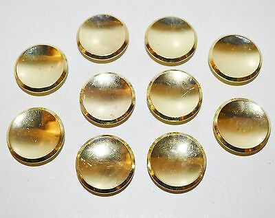 "Mid Century Atomic Vintage Round KNOBS 2"" Large Cabinet Door Lot 10 Gold Brass"