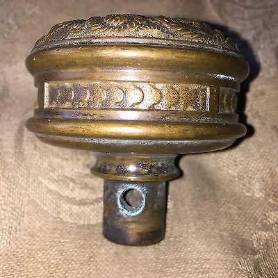 Collectible Cast Bronze Heavy Entry Knob Fine Detailing Well-tooled Banded Edge