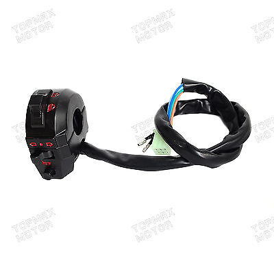 "Universal Motorcycle 7/8"" Handlebar Left Control Switch Light Horn Indicator Bar"