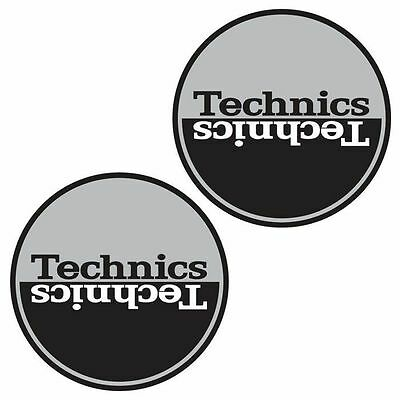 Technics Moon 1 Slipmats (pair, silver & black)
