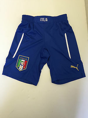Kids Puma Italy Football Shorts - 11-12 Years - Royal/White - BNWT