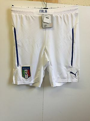 Kids Puma Italy Football Shorts - 11-12 Years - White - BNWT