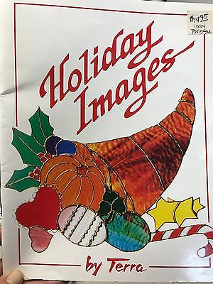 Holiday Images Stained Glass Pattern Book by Terra
