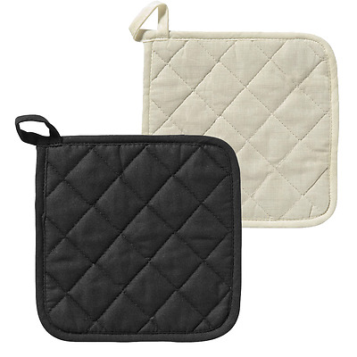 Oven Pot Pan Holder Heat Resistant Cotton Kitchen Cooking Square Mitt Quilted