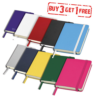 Pocket Notebook Lined  Notepad Hardback Journal Notes Book A6 Small Diary School