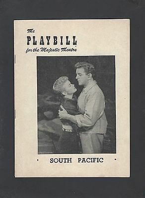 The Playbill Magazine for The Majestic Theatre New York City 1952 South Pacific