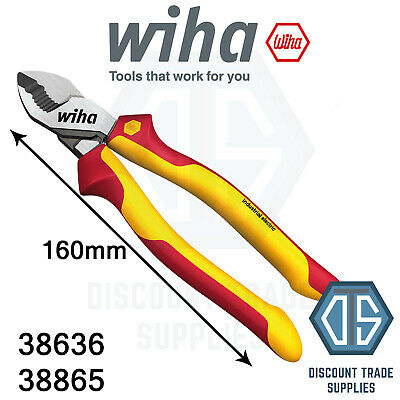 Wiha 38865 160mm German Industrial VDE Electrical Wire Cable Cutter 38636
