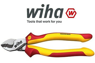 Wiha 38866 200mm German Industrial VDE Electrical Wire Cable Cutter 35479