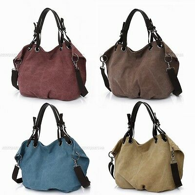 Women Handbag Shoulder Crossbody Tote Purse Canvas Satchel Messenger Hobo Bag