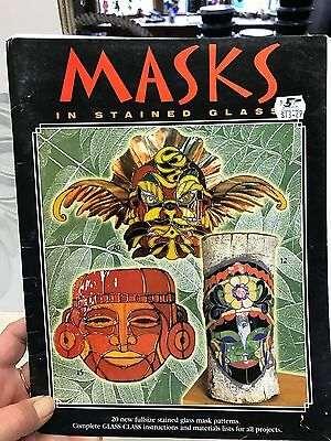 Masks In Stained Glass Pattern Book