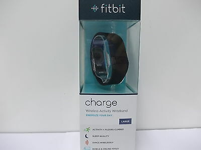 Fitbit Charge Wristband Wireless Activity Fitness Black - Large