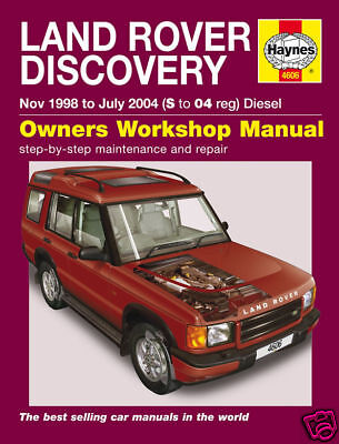 Haynes Manual Land Rover Discovery TD5 Diesel 1998-2004 4606 NEW
