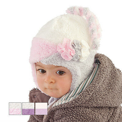 Winter Warm Soft Colourful Tied Hat/cap For Girl/baby/toddler/infant Xmas Gift