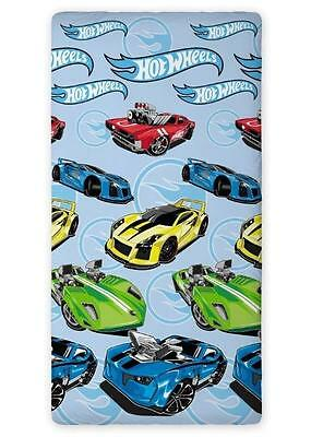 HOT WHEELS CARS SINGLE FITTED SHEET 90cm x 200cm 100% COTTON.