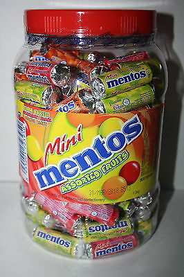 Mentos Mini Assorted Fruits Jar 130 units 1.3kg