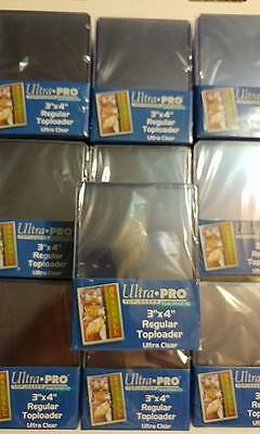Ultra Pro - Lof of 10 Packs of 25 - Regular 3x4 Top Loaders Cards Hard Plastic
