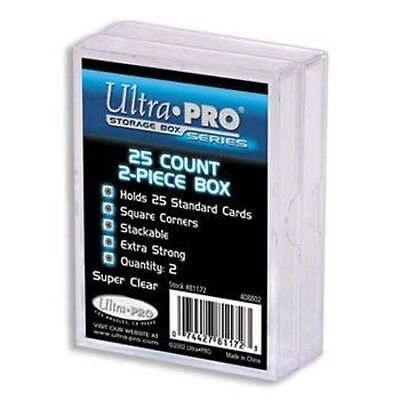 Ultra Pro - 15 Packs of 2 - 2-Piece Plastic Box 25 CT Case